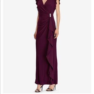 Lauren Ralph Lauren Dresses - Flutter sleeve gown.